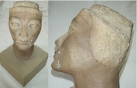Maska královny Nefertiti, 1964, originál B. Forman
