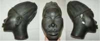Sádrová hlava africké ženy, originál F.V. Foit (1900 – 1971)