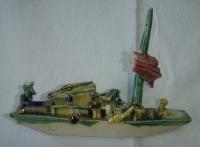 Čínská loďka s plachtou