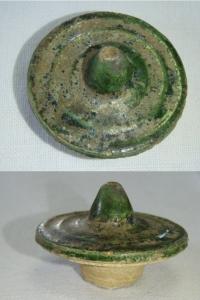 Víčko, zelená keramika