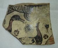 Střep s vyobrazením ptactva, Řecko
