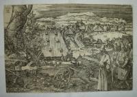 Kanon, originál Alfred Dürer, litografie dřevorytu z 1518, dle Dr. Assmanna (NG) je tištěn z původního štočku, asi v 18. – 19. století