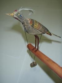 Dřevěný ptáček 2