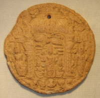 Keramický medailonek, ranná Indie